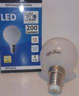 Light Shine LED 3W Krone pære E14 = 25W